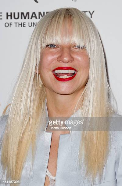 Sia attends the Humane Society's 60th anniversary benefit gala at the Beverly Hilton Hotel on March 29 2014 in Beverly Hills California