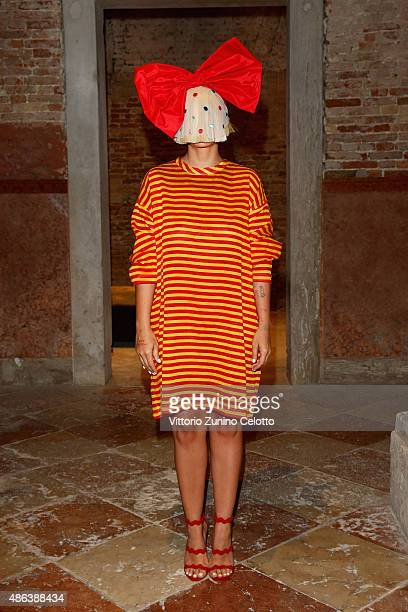 Sia attends the Miu Miu Women's Tales Dinner during the 72nd Venice Film Festival at Ca' Corner della Regina on September 3 2015 in Venice Italy