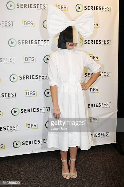 Sia attends the opening night of SeriesFest Season Two at Red Rocks Amphitheatre on June 22 2016 in Morrison Colorado