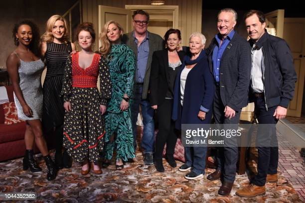 Sia Dauda Natalie Walter Macy Nyman TracyAnn Oberman Chris Larkin Finty Williams Judi Dench Jasper Britton and Alsadir Harvey attend the press night...