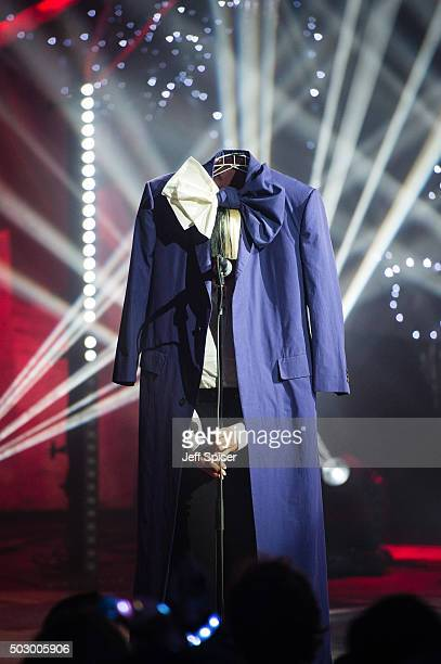 Sia during the recording of 'TFI Friday' New Year's Eve special at the Cochrane Theatre on December 31 2015 in London England
