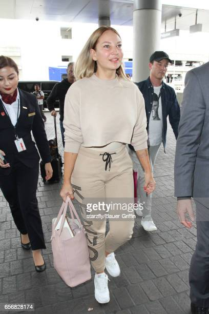 Sia is seen at LAX on March 22 2017 in Los Angeles California