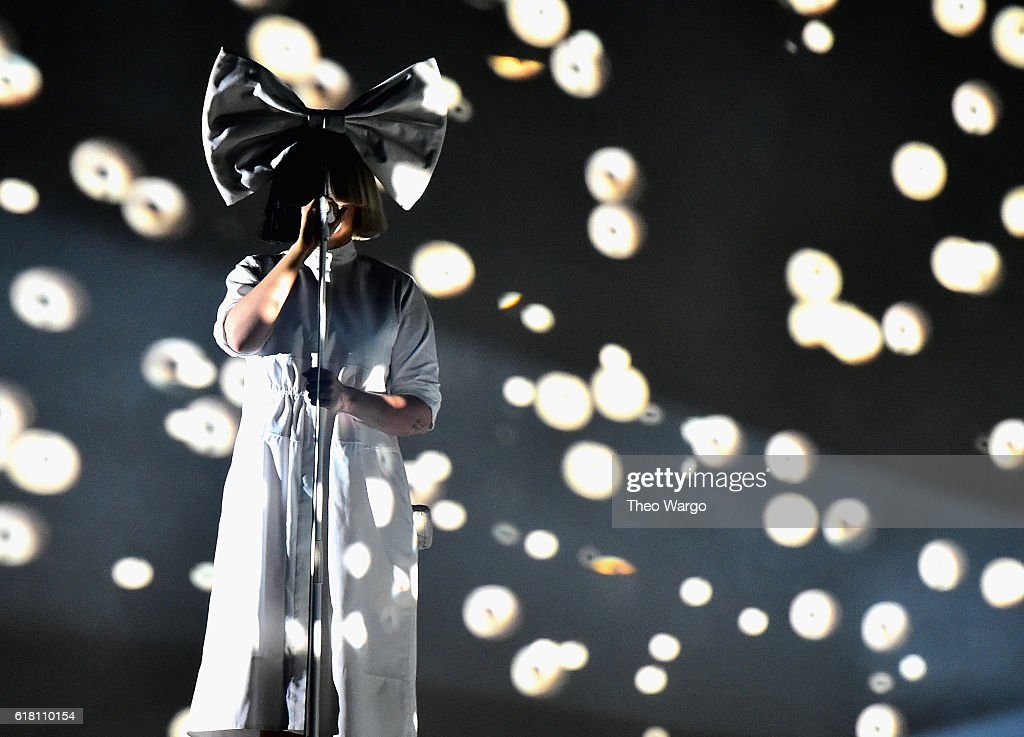 Sia performs at Barclays Center on October 25, 2016 in New York City.