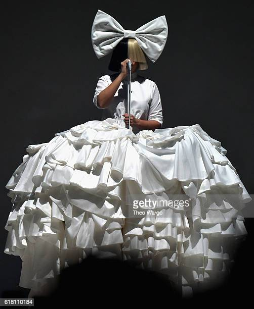 Sia performs at Barclays Center on October 25 2016 in New York City