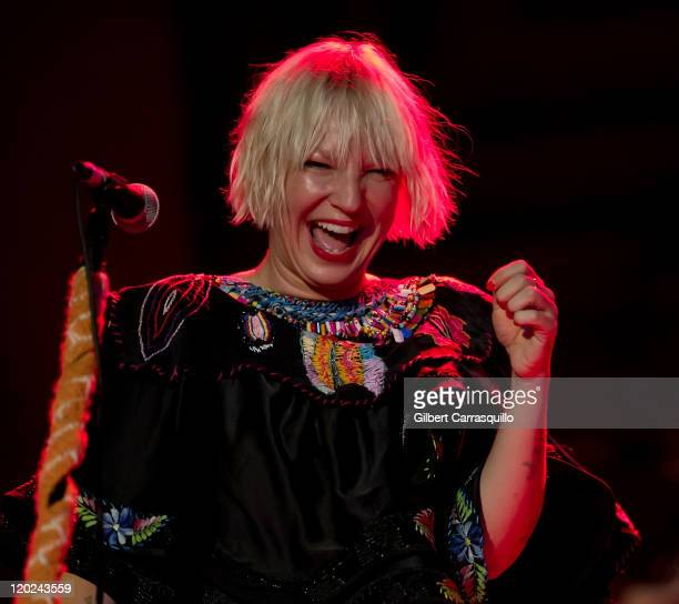 Sia performs at the Trocadero on August 1 2011 in Philadelphia Pennsylvania