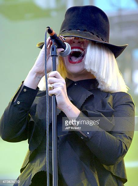 Sia performs during 102.7 KIIS FM's Wango Tango at StubHub Center on May 9, 2015 in Los Angeles, California.