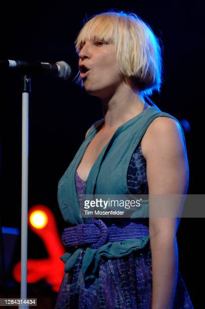 Sia performs during Coachella 2008 at the Empire Polo Fields on April 27, 2008 in Indio, California.