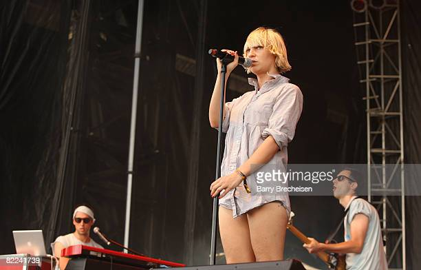 Sia performs during the 2008 All Points West music and arts festival at Liberty State Park on August 9 2008 in Jersey City New Jersey