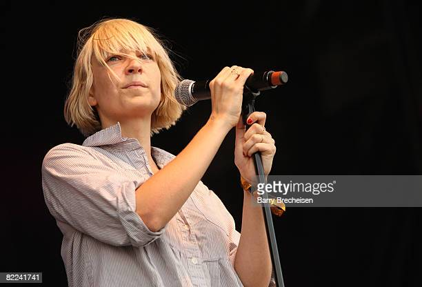Sia performs during the 2008 All Points West music and arts festival at Liberty State Park on August 9, 2008 in Jersey City, New Jersey.