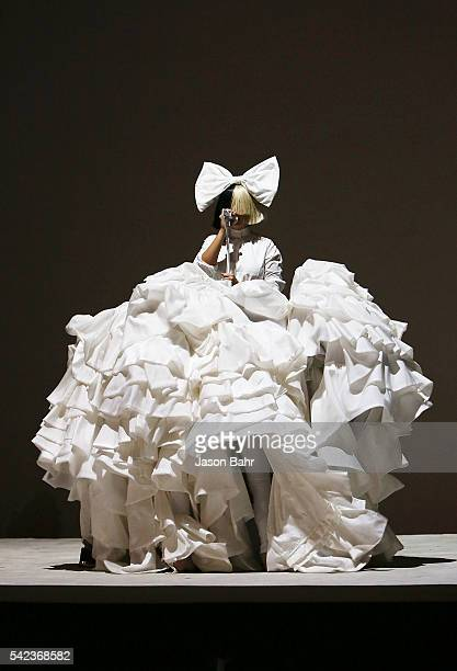 Sia performs during the opening night of SeriesFest Season Two at Red Rocks Amphitheatre on June 22 2016 in Morrison Colorado