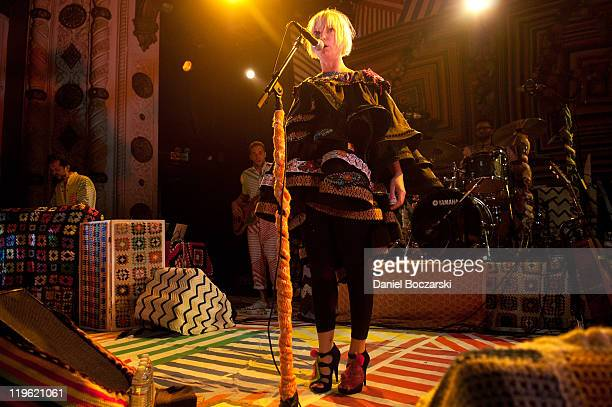 Sia performs on stage at Metro on July 22 2011 in Chicago Illinois