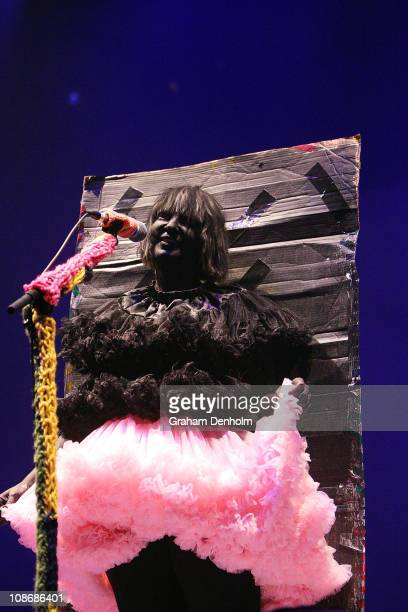 Sia performs on stage at the Palais Theatre on February 1 2011 in Melbourne Australia