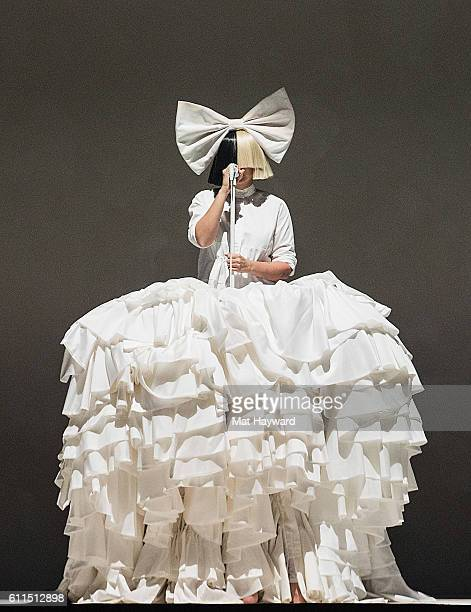 Sia performs on stage during the opening night of her 'Nostalgic for the Present' tour at KeyArena on September 29 2016 in Seattle Washington