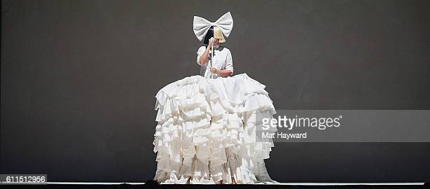Sia performs on stage during the opening night of her Nostalgic for the Present tour at KeyArena on September 29 2016 in Seattle Washington