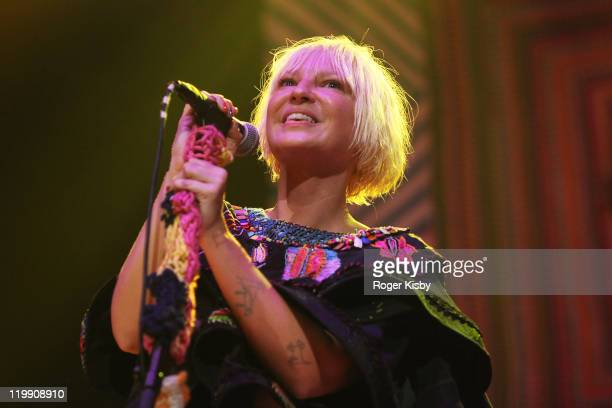 Sia performs onstage at Webster Hall on July 26 2011 in New York City