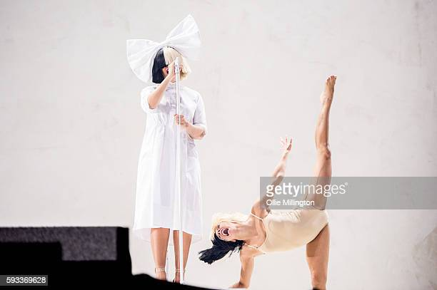 Sia performs onstage on Day 2 of V Festival 2016 at Weston Park on August 21 2016 in Stafford England