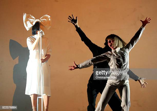 Sia performs onstage on day 3 of the 2016 Coachella Valley Music Arts Festival Weekend 1 at the Empire Polo Club on April 17 2016 in Indio California