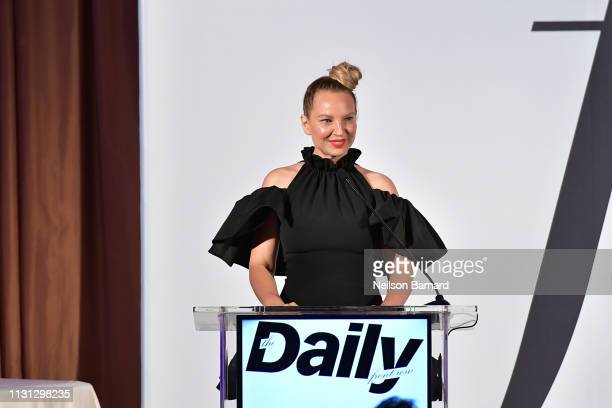 Sia speaks onstage duing The Daily Front Row Fashion LA Awards 2019 on March 17 2019 in Los Angeles California