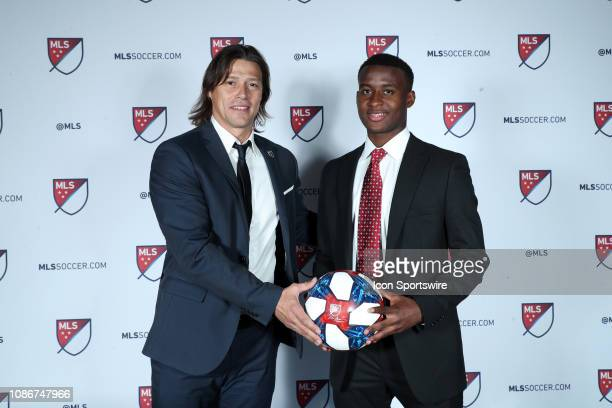 Siad Haji was taken with the second overall pick by the San Jose Earthquakes With head coach Matias Almeyda during the MLS SuperDraft 2019 presented...