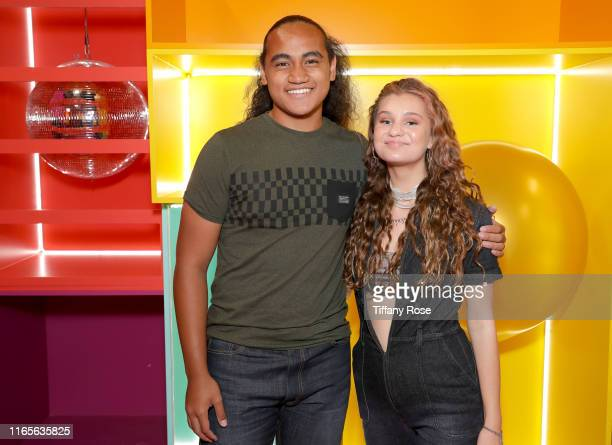 "Siaki Sii and Cloe Wilder attend Cloe Wilder's ""i don't wanna"" Music Video Premiere Party on August 01, 2019 in Los Angeles, California."