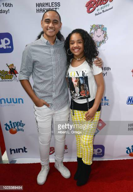 Siaki Sii and Nancy Fifita arrive for Will B's 16th Birthday held at Starwest Studios on August 24 2018 in Burbank California