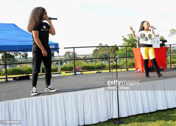 Siaki Sii and Nancy Fifita perform at the City Of Carson's Presentation of Autism Awareness 5K Walk/Runds held at California State University...