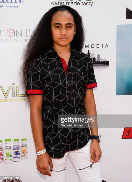 Siaki Sii arrives at Teen Recording Artist Mahkenna's Sweet 16/Expect2Win Extravaganza at ANC Productions on March 26, 2017 in Burbank, California.