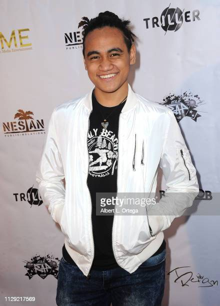 Siaki Sii arrives for the Viewing Of Final 3 Of The Rap Game held at Station1640 on March 7 2019 in Hollywood California