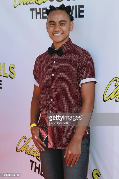 "Siaki Sii attends Gen-Z Studio Brat's Premiere Of ""Chicken Girls"" at Ahrya Fine Arts Theater on June 28, 2018 in Beverly Hills, California."