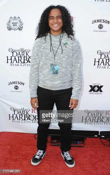 Siaki Sii attends Queen Mary's 10th Annual Dark Harbor Media And VIP Night held at The Queen Mary on September 26, 2019 in Long Beach, California.