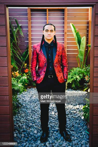 Siaki Sii attends #SaveProm, a virtual prom for high school kids, hosted by My School Dance and Charlotte's Closet on May, 2 2020 in Hawthorne,...