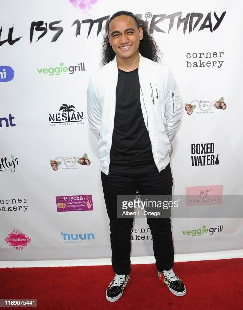 Siaki Sii attends Singer Will B's 17th Birthday Party held at Starwest Studios on August 17, 2019 in Burbank, California.