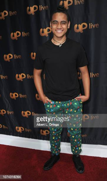 Siaki Sii attends UpLive Hosts Party & Concert held at Starwest Studios on December 16, 2018 in Burbank, California.