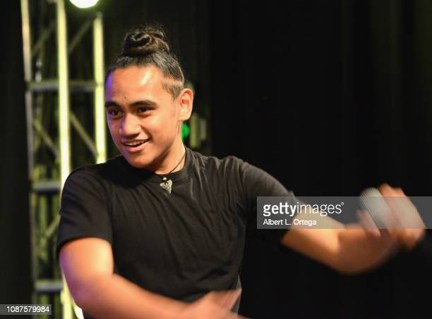 Siaki Sii performs at UpLive Hosts Party Concert held at Starwest Studios on December 16 2018 in Burbank California