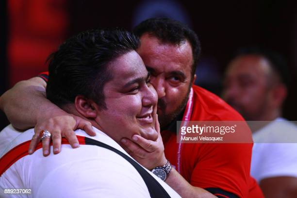 Siamand Rahman of Iran celebrates during the Men's Over to 107 Kg Group A Category as part of the World Para Powerlifting Championship Mexico 2016 at...