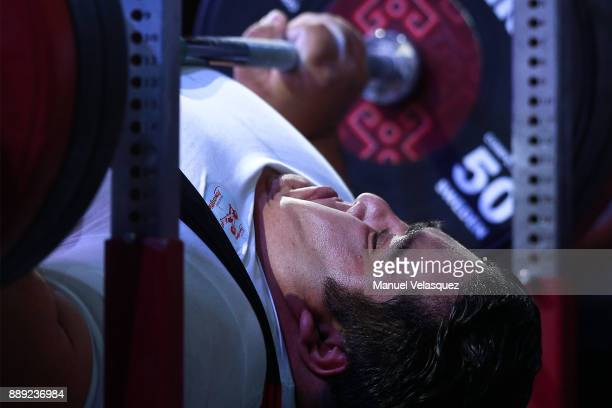 Siamand Rahman of Iran competes during the Men's Over to 107 Kg Group A Category as part of the World Para Powerlifting Championship Mexico 2016 at...