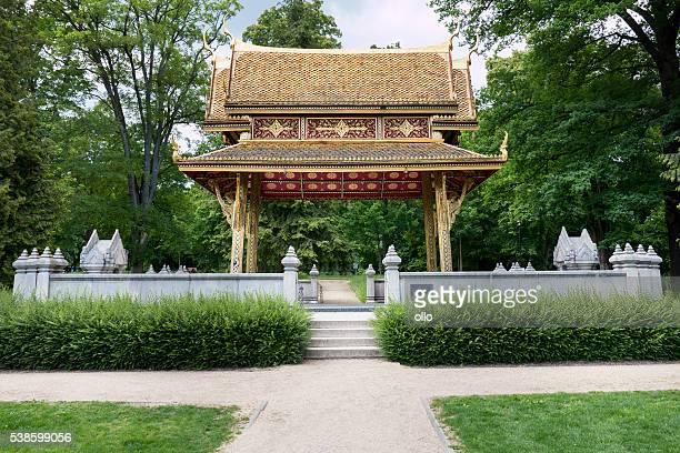 siamesischer tempel (sala-thai i), bad homburg, germany - bad homburg stock pictures, royalty-free photos & images
