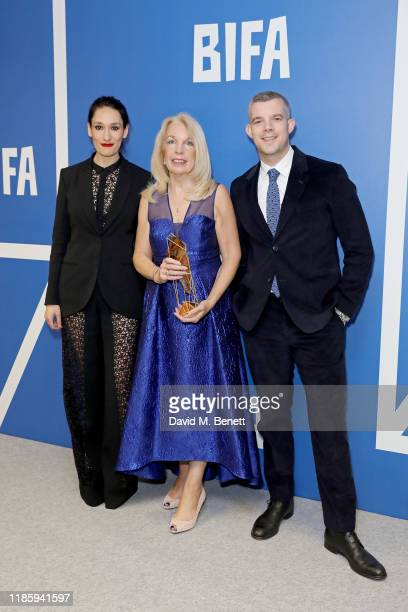 Sian Clifford Amanda Nevill wins Special Jury Prize presented by Russell Tovey in the Winners Room at the 22nd British Independent Film Awards at Old...