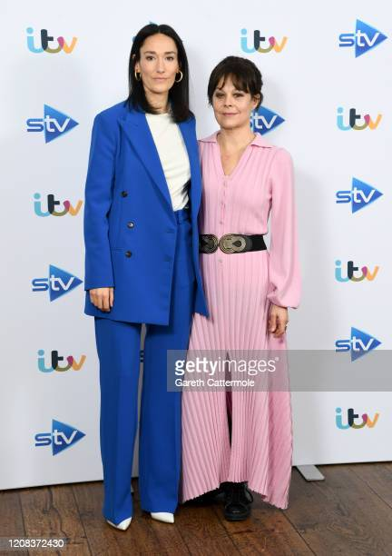 Sian Clifford and Helen McCrory attend the Quiz photocall at the Soho Hotel on February 24 2020 in London England
