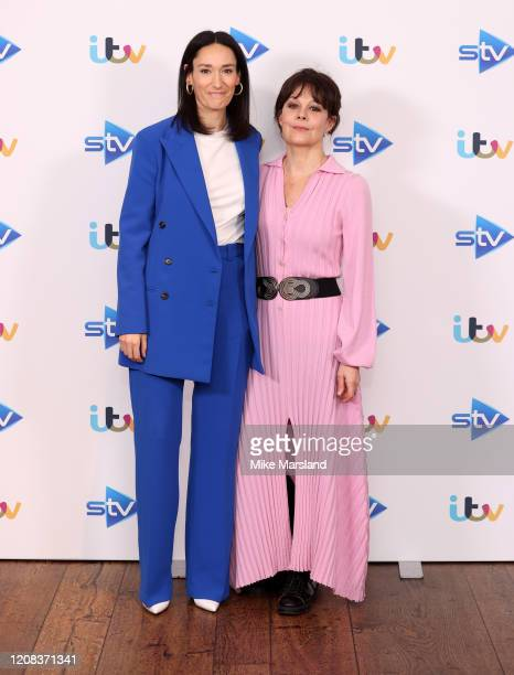 Sian Clifford and Helen McCrory attends the Quiz photocall at Soho Hotel on February 24 2020 in London England