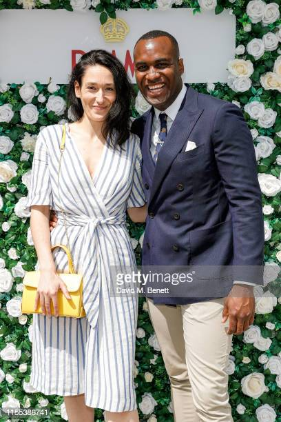 Sian Clifford and Kadiff Kirwan attend day 13 of Wimbledon 2019 at the All England Lawn Tennis and Croquet Club hosted by Pimms on July 13 2019 in...
