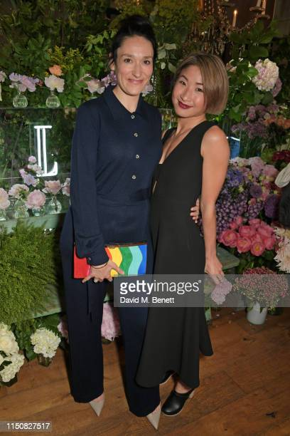 Sian Clifford and Kae Alexander celebrate The ELLE List in association with MAGNUM ice cream on June 19 2019 in London England