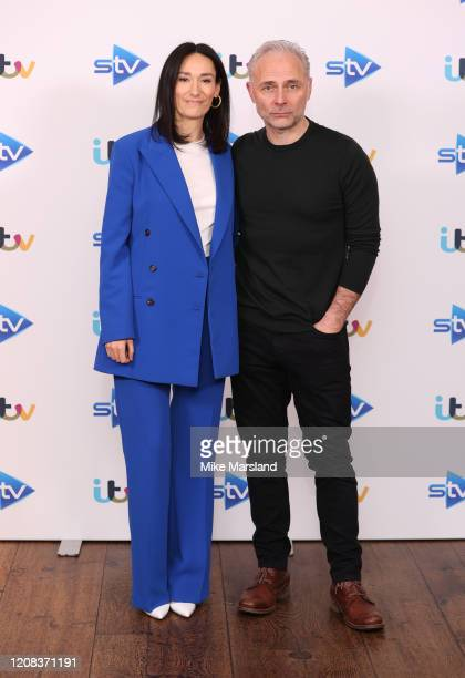 Sian Clifford and Mark Bonnar attends the Quiz photocall at Soho Hotel on February 24 2020 in London England