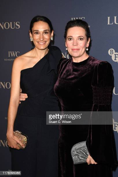 Sian Clifford and Olivia Colman attend the BFI Luminous Fundraising Gala at The Roundhouse on October 01 2019 in London England