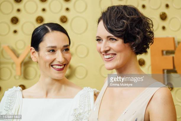 Sian Clifford and Phoebe WallerBridge arrive at the 71st Emmy Awards at Microsoft Theater on September 22 2019 in Los Angeles California