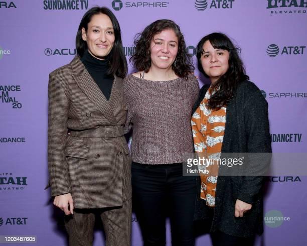 Sian Clifford Fernanda Valdez and Astrid Rondero pose backstage during the 2020 Sundance Film Festival Awards Night Ceremony at Basin Recreation...