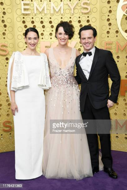 Sian Clifford Phoebe WallerBridge and Andrew Scott attend the 71st Emmy Awards at Microsoft Theater on September 22 2019 in Los Angeles California