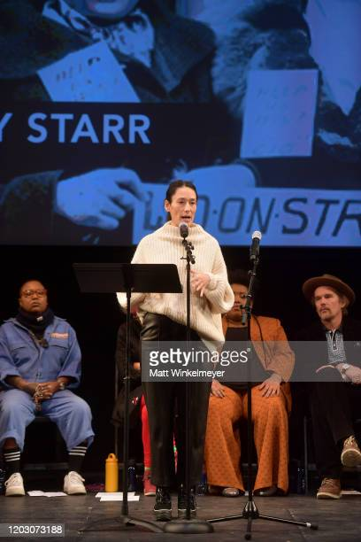 Sian Clifford speaks onstage at the 2020 Sundance Film Festival Power Of Story The People Speak Panel at Egyptian Theatre on January 30 2020 in Park...