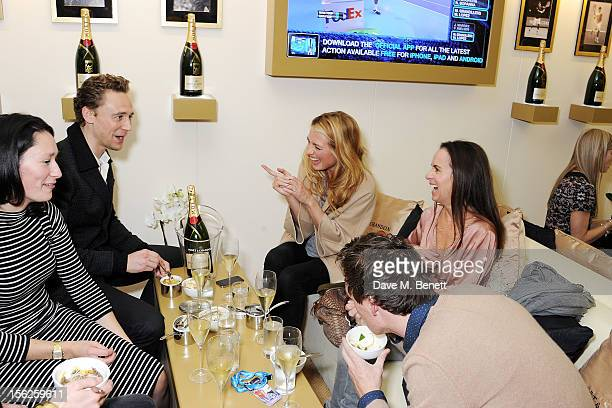 Sian Clifford Tom Hiddleston Cat Deeley guest and Tom Hiddleston attend the Moet Chandon VIP Suite during day eight of the ATP World Finals at the O2...