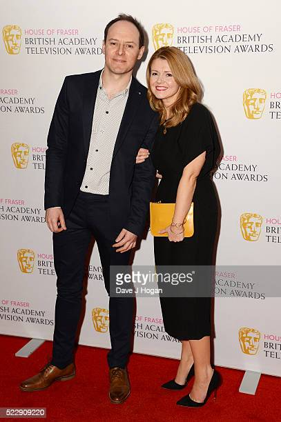Sian Gibson and Paul Coleman attend the House of Fraser British Academy Television and Craft Nominees Party at The Mondrian Hotel on April 21 2016 in...